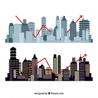 Conjunto de edificios de formas