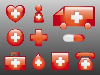 Conjunto de etiquetas adhesivas médicas