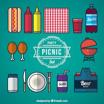 Conjunto de fiesta picnic