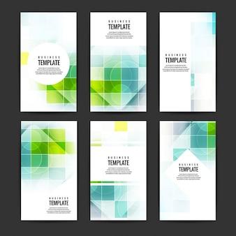 Conjunto de folletos de negocios de colores