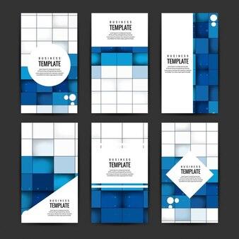 Conjunto de folletos de negocios