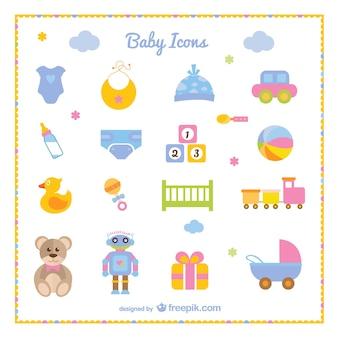 Conjunto de iconos de bebé