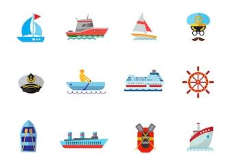 Conjunto de iconos de crucero