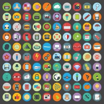 Conjunto de iconos de desarrollo web y tecnología