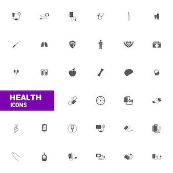 Conjunto de iconos de la salud
