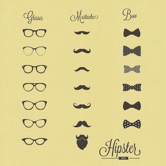 Conjunto de iconos hipster