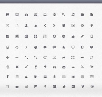 Conjunto de iconos perfectos glifo diseñador de interfaces