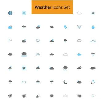 Conjunto de iconos sobre el tiempo