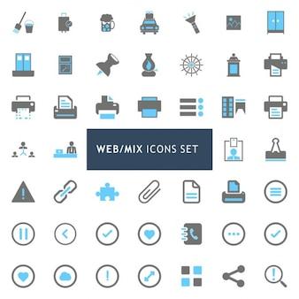 Conjunto de iconos sobre web