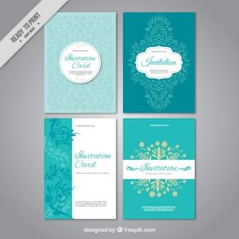 Conjunto de invitaciones de boda