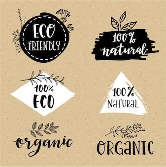 Conjunto de logotípos orgánicos
