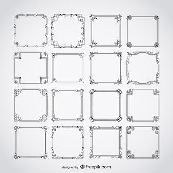 Conjunto de marcos caligráficos