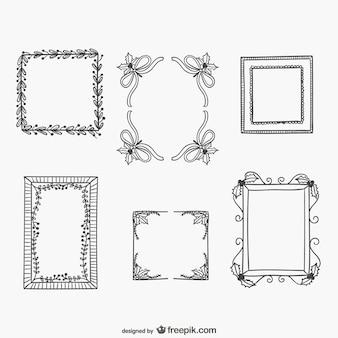 Conjunto de marcos minimalistas