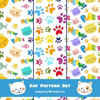 Conjunto de patrones de gato