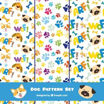 Conjunto de patrones de perro