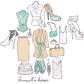 Conjunto de ropa de la muchacha