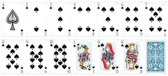 Conjunto de tarjetas de póquer con diseño frontal y trasero