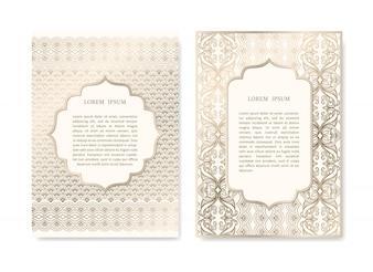 Conjunto de tarjetas ornamentales