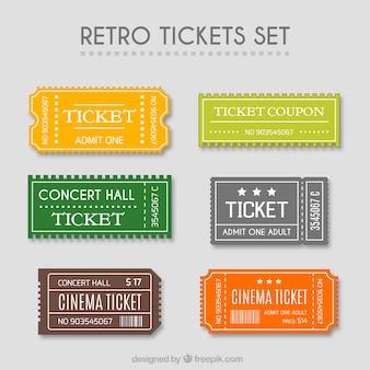 Conjunto de tickets retro