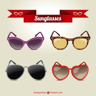Conjunto de vectores de gafas de sol