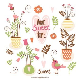 Conjunto de vectores de hogar, dulce hogar