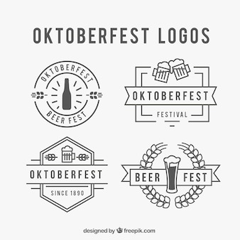 Conjunto logotipo Oktoberfest