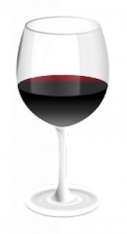 Copa de vino rojo