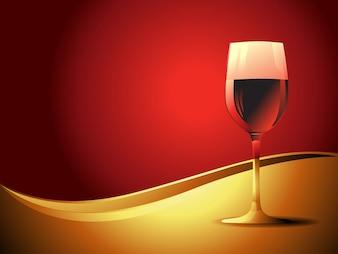 Copa de vino sobre fondo elegante