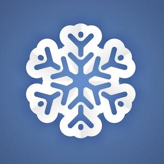 Copo de nieve de papel blanco