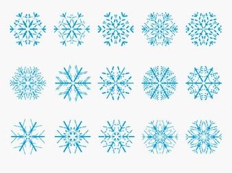 copo de nieve de vectores
