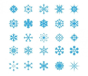 Copo de nieve icon set