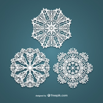 Copos de nieve blancos elegantes