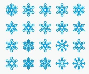 Copos de nieve froozen iconos