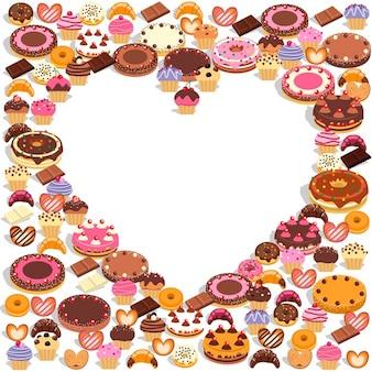 Corazón con dulces