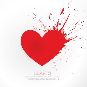 Corazón de casino con salpicaduras
