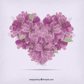 Corazón formado por flores