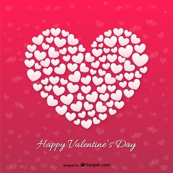 Corazón hecho de otra tarjeta de corazones