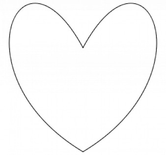 corazón sencillo