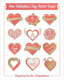 Corazones día de San Valentín y rosas