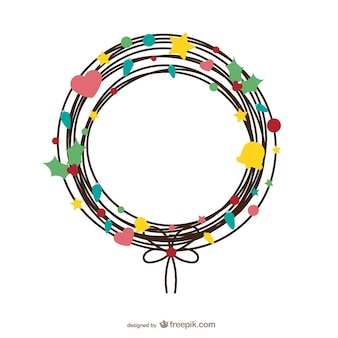 Corona de alambre de Navidad
