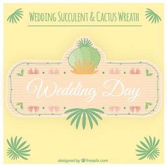 Corona de cactus para boda