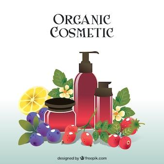 Cosméticos orgánicos, estilo realista