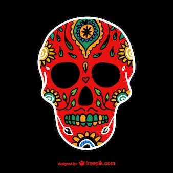 Cráneo pintado mexicano