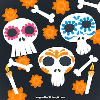 Cráneos mexicanos divertidos