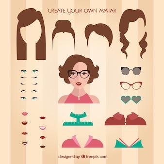 Crea tu propio avatar femenino