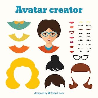 Creador de avatar femenino