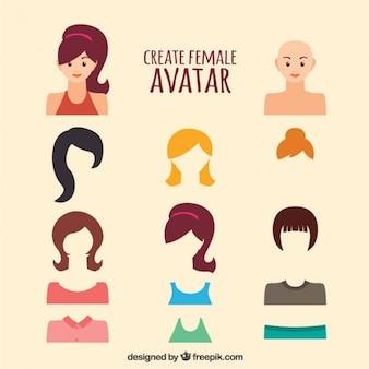 Crear avatar femenino