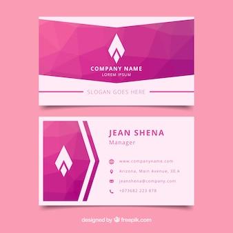 Creativa tarjeta corporativa abstracta