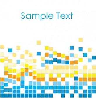 Creativo colorido mosaico de fondo vector