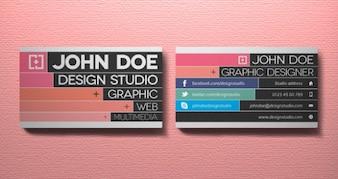 Creativo tarjeta de visita vol 3 | tarjetas de visita plantillas | pixeden